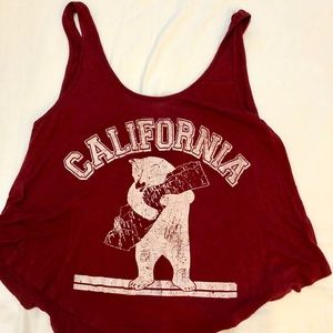 Love Culture California Cropped Swing Tank